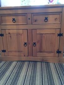 Mexican Pine cupboard sideboard storage unit