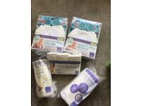 Brand New 2x Mio Reusable Nappy Kits: plus Mio Liners & Nappy Boosters