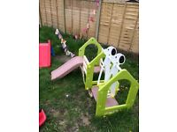Swing and slide garden toy
