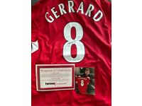 Signed Steven Gerrard instanbul shirt with Authentication certificate