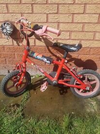 Kids small pedal bike