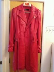 Ladie's leather coat