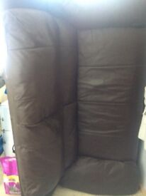 Free to collecter. Brown leather sofa