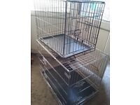 2 × dog cages small and a medium