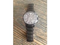 Armani men's black Matt watch