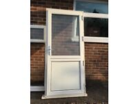 upvc door reclaimed-ideal for outhouse /garage ,etc- has 2 keys