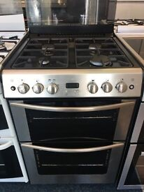 STOVES 60CM ALL GAS COOKER IN SHINY SILIVER