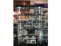 Tall Glass Display Cabinet (1-MONTH-OLD)