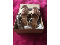 Ladies Clarks dusty pink sandals UK size 7, fit D, Euro 41