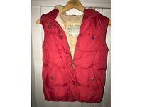 Jack Wills padded fur lined hooded gilet - UK size 8