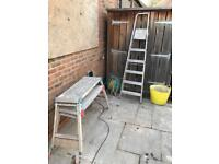 Hop up's and step ladder