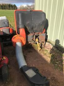 Kubota Compact Tractor Mower collecting system.