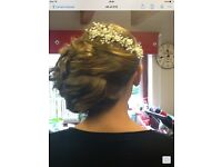 Bridal hair piece - silver and seed pearls