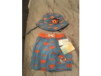 Swim shorts and matching hat Disney