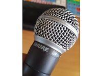 Shure Sm58 for sale 70 pounds Microphone Sennheiser e-825s pro vocal mic 55 pounds