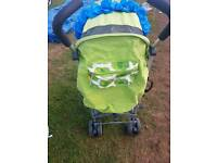 Lime colour stroller