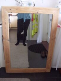SOLID PINE CHUNKY MIRROR