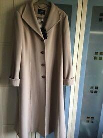 Wool full length coat BNWT