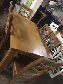 Solid oak dining room sets sale on all tables
