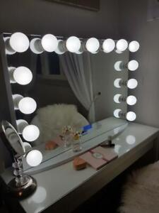 SALE Vanity Hollywood Mirror Cosmetic Beauty Blogger Makeup LED light dimmer Bluetooth Speakers Salon Zeeba DISCOUNTED