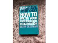 Palgrave Study Skills How to write your undergraduate dissertation