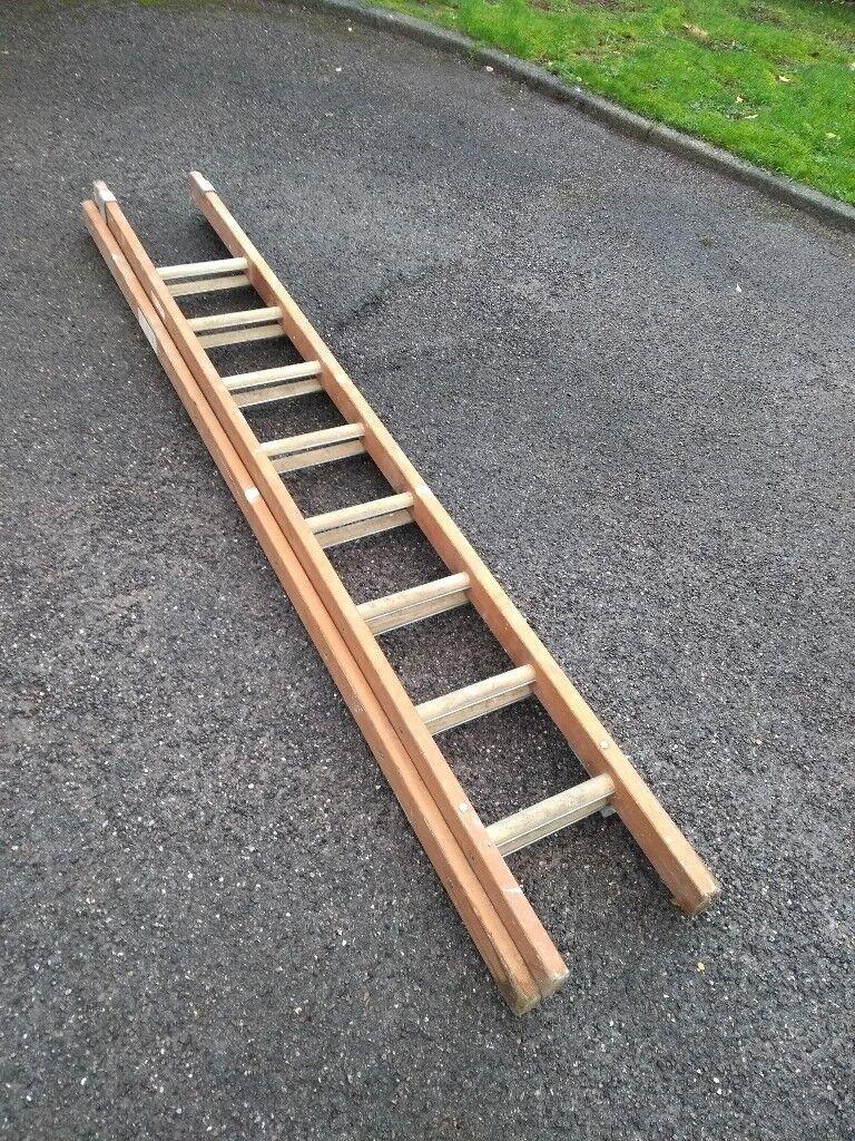 "Wooden Ladder - 7""4' to 12""6'"