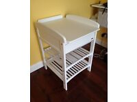 JOHN LEWIS ANNA CHANGING TABLE WITH DRAWER, WHITE - £60 (RRP £100) Used but very good condition