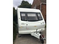 2 BERTH ELDDIS CARAVAN WITH AWNING AND MOTOR MOVER