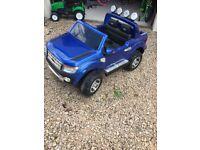 Kids Electric Car Ford Ranger - Blue Gloss