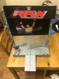 WWE Wrestling Stage / Wrestler Figure Play Set Toys