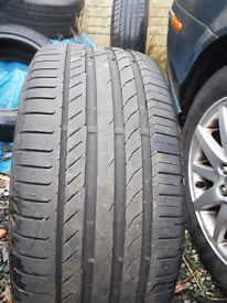 Continental contisportcontact tyre. 5mm of tread. Good tyre