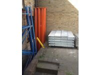 storage and shelving, stacking crates, high quality used commercial extra strong shelving and more