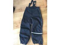 Black children ski pants