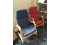 2x childs reading chairs