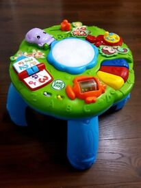 LeapFrog Animal Adventure Learning Table with original packaging.