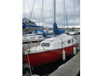 Kingfisher 25' Sailing Yacht - lying Torquay