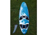 Starboard Carve 121 with Drake Freeride 380 Fin