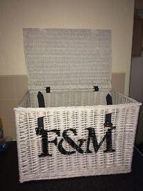 Fortnum & mason large white hamper basket