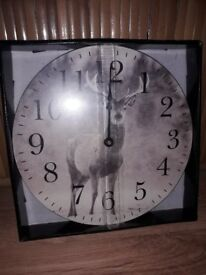 Brand new boxed and sealed Stag wall clock.