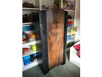 Vintage antique 1960 cupboard wardrobe,