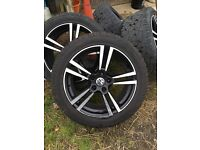 "22"" 5 spoke VW Touareg wheels PCD 5x130"