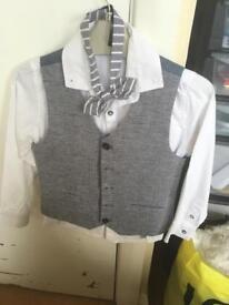 Next boys shirt, waistcoat and bow tie