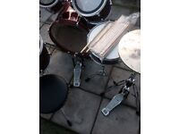 Mapex 5 piece drum kit complete . Stool. 20 sets of sticks