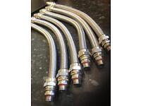 Stainless steel waterproof hose 20mm threaded ends