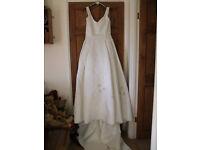 Cream Wedding Dress - Serenity - Size 14