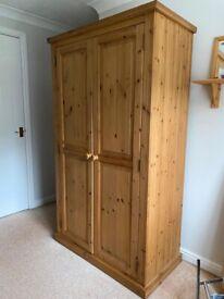 Devon Chunky Pine Solid Wood Double Wardrobe