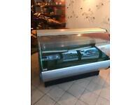 Display desert fridge for shop kebab meat counter jshshw