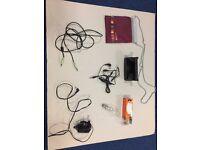 Audio/speaker cable + Headphone (NEW!) + Lightbulb 25W (NEW!) + Power adapter_£7 for ALL