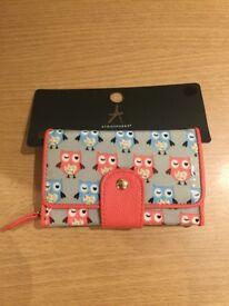 BRAND NEW Ladies / Girls Owl Print Cath Kidston Style Purse / Wallet