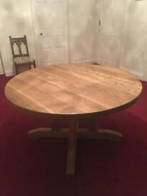 """Table 54"""" round Solid Oak"""